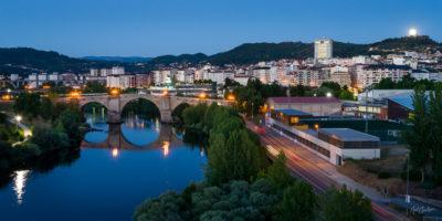 Moonrise over Roman Bridge, Ourense